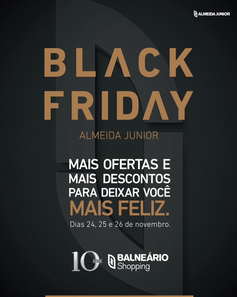 a69ec6cc8b Black Friday terá três dias no Balneário Shopping
